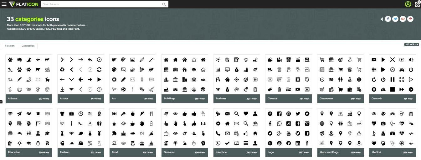 flaticon - Бесплатные иконки