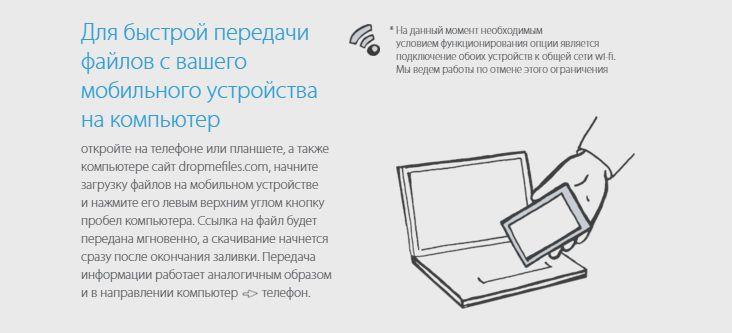 Файлообменник без регистрации - Для быстрой передачи файлов