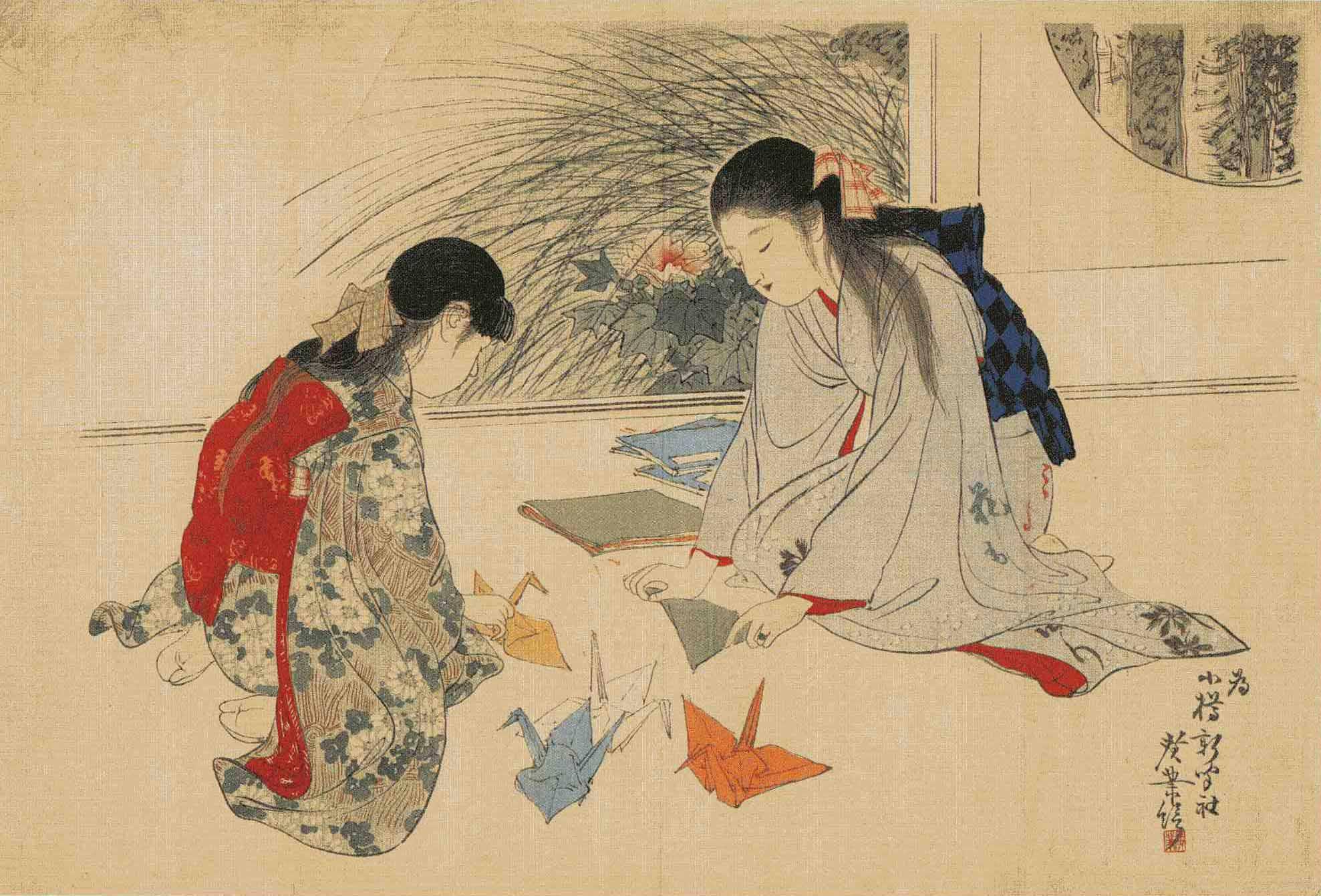 Оригами в древней Японии