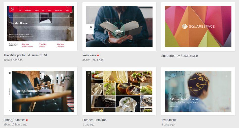 Интерактивный web-дизайн - Список сайтов
