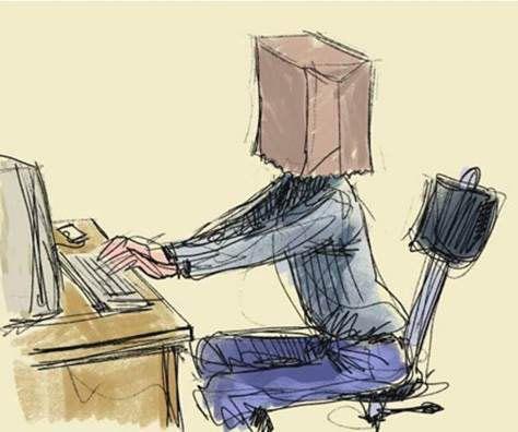 Анонимайзер - карикатура