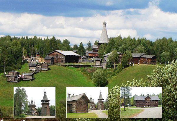Вид на музей деревянного зодчества
